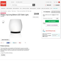 Buy Philips myLiving Bolton LED Table Light at Argos.co.uk - Your Online Shop for Table lamps.