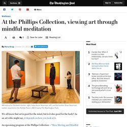 At the Phillips Collection, viewing art through mindful meditation