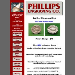 Phillips Engraving Leather Stamping Dies