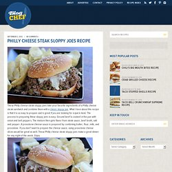 Philly Cheese Steak Sloppy Joes Recipe