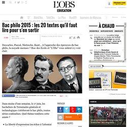 Bac philo 2015 : les 20 textes qu'il faut lire pour s'en sortir