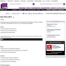 Bac Philo 2011 - Idées
