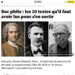Bac philo : les 20 textes qu'il faut avoir lus pour s'en sortir - 9 juin 2014