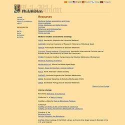 Resources - Philobiblon - University of California, Berkeley