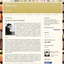 Philocité: Arendt et la crise de l'autorité
