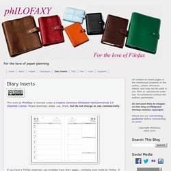 Philofaxy: Weekly Planner Excerpts - Good for student organizational skill development.