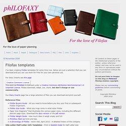 Philofaxy: Filofax templates