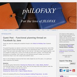 Guest Post - Functional planning thread on Facebook by Jane