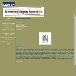 Humanistica Lovaniensia