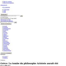Grèce: La tombe du philosophe Aristote aurait été localisée