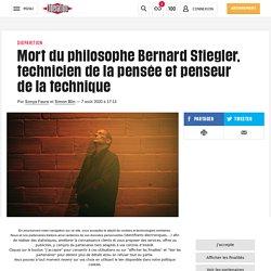 Mort du philosophe Bernard Stiegler, technicien de la pensée et penseur de la technique