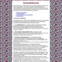 Annettes Philosophenstübchen: Systemtheorie