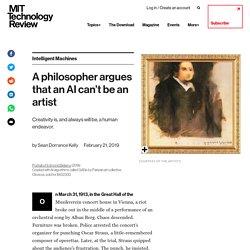 A philosopher argues that an AI can't be an artist