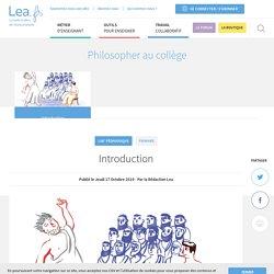 Philosopher au collège
