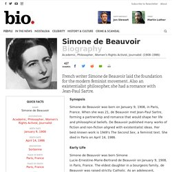 Simone de Beauvoir - Biography - Academic, Philosopher, Women's Rights Activist, Journalist - Biography.com