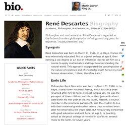 René Descartes - Biography - Academic, Philosopher, Mathematician, Scientist