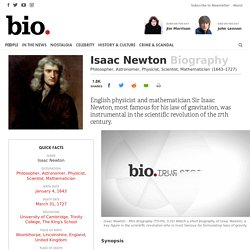Isaac Newton - Philosopher, Astronomer, Physicist, Scientist, Mathematician