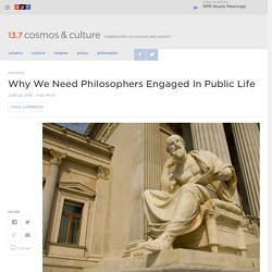 Why We Need Philosophers Engaged In Public Life : 13.7: Cosmos And Culture