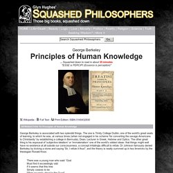Squashed Philosophers Abridged Editions - Berkeley - Principles of Human Knowledge