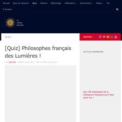 [Quiz] Philosophes français des Lumières !