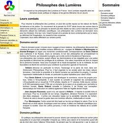 Philosophes des Lumières - SiteMAI