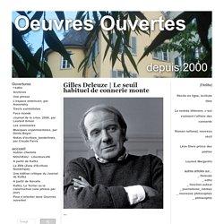 """Gilles Deleuze sur les nouveaux philosophes : """"Ce que je leur reproche, c'est..."""