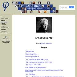 Philosophica: Enciclopedia filosófica on line — Voz: Ernst Cassirer