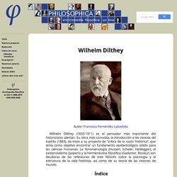 Philosophica: Enciclopedia filosófica on line — Voz: Wilhelm Dilthey