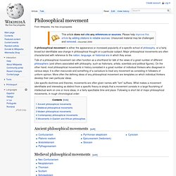 Philosophical movement