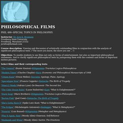 Philosophical Films