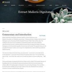 Extract Mulieris Dignitatem - Philosophical Investigations