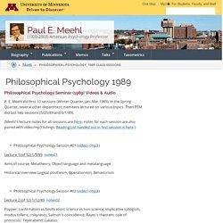 Philosophical Psychology 1989