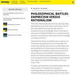 Philosophical Battles: Empiricism versus Rationalism - dummies