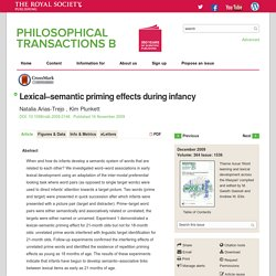 Lexical-semantic priming effects during infancy