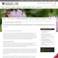 RESEAU DU SAVOIR BIOLOGIQUE - JANV 2013 - Cultiver des pommes en appliquant la philosophie biologique