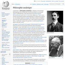 Philosophie analytique