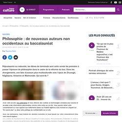Philosophie : de nouveaux auteurs non occidentaux au baccalauréat