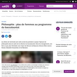 Philosophie : plus de femmes au programme du baccalauréat