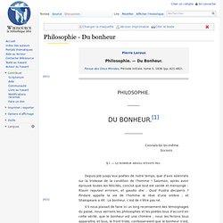 Philosophie - Du bonheur
