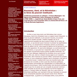 Luc Vincenti - Philosophie - Conférences - Rousseau et le marxisme. Ouverture et thématiques