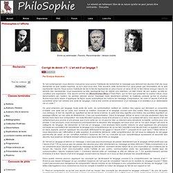 PhiloSophie - Corrigé de devoir n°1 : L'art est-il un langage ?