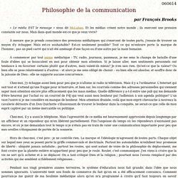 Philosophie de la communication