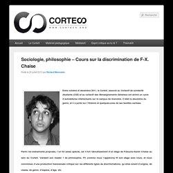 Sociologie, philosophie – Cours sur la discrimination de F-X. Chaise