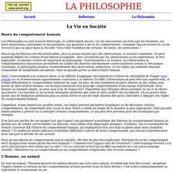 Philosophie - Relations et domination