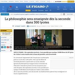 La philosophie sera enseignée dès la seconde dans 300 lycées