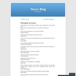 Philosophie et humour « Tony's Blog