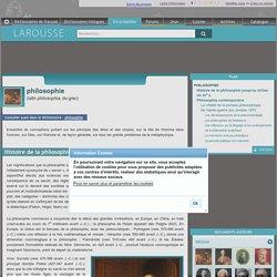 La philosophie dans l'Encyclopédie Larousse (nombreux rebonds internes vers les écoles philosophiques, les auteurs etc.)