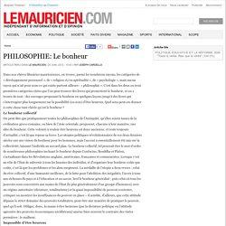 PHILOSOPHIE: Le bonheur