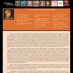 L'art comme modèle pour la philosophie : Nietzsche – Lettres-et-Arts.net