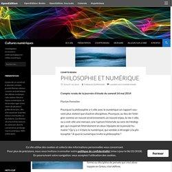Philosophie et numérique